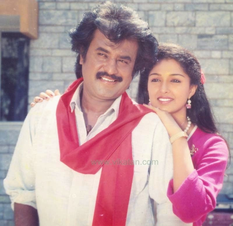 RAJINIKANTH & GOUTHAMI IN 'GURU SHISYAN' MOVIE 1