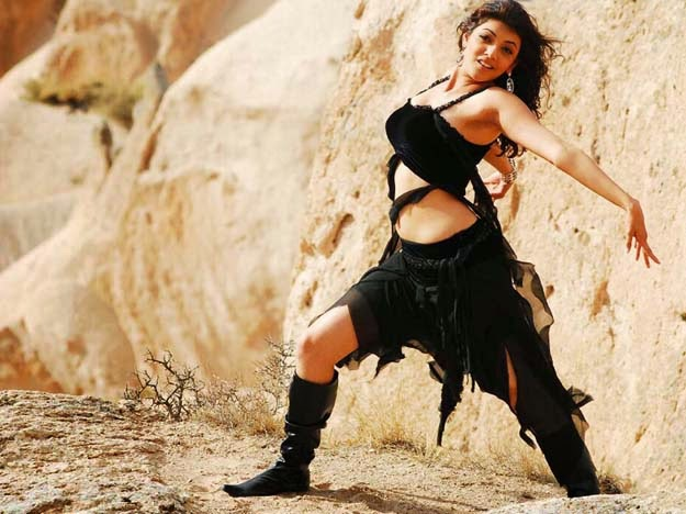 Ttest Kajal Agarwal Black Dress Song Making Kajal Aggarwal