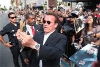 Arnold Schwarzenegger enjoys playing a machine in Terminator Genisys