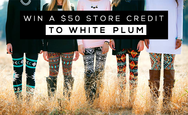 GIVEAWAY // Win a $50 Store Credit to White Plum from Bubby & Bean