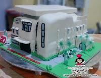 3D Cake Gedung Ruman Sakit - Hospital 3D Cake