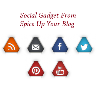 How to Add Triangle Social Icons Gadget