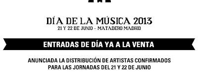 Día de la música 2013 Entradas Horarios