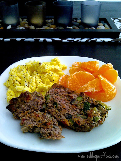 Manly Morning Meatloaf recipe at www.soliloquyoffood.com