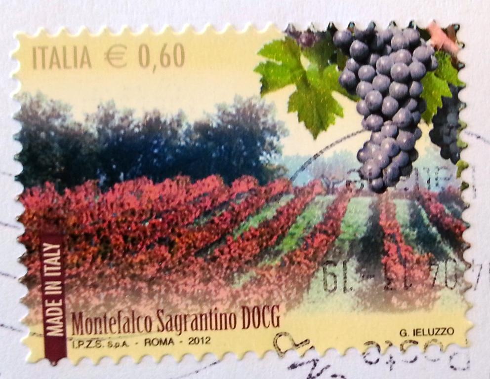 francobollo Montefalco Sagrantino DOCG