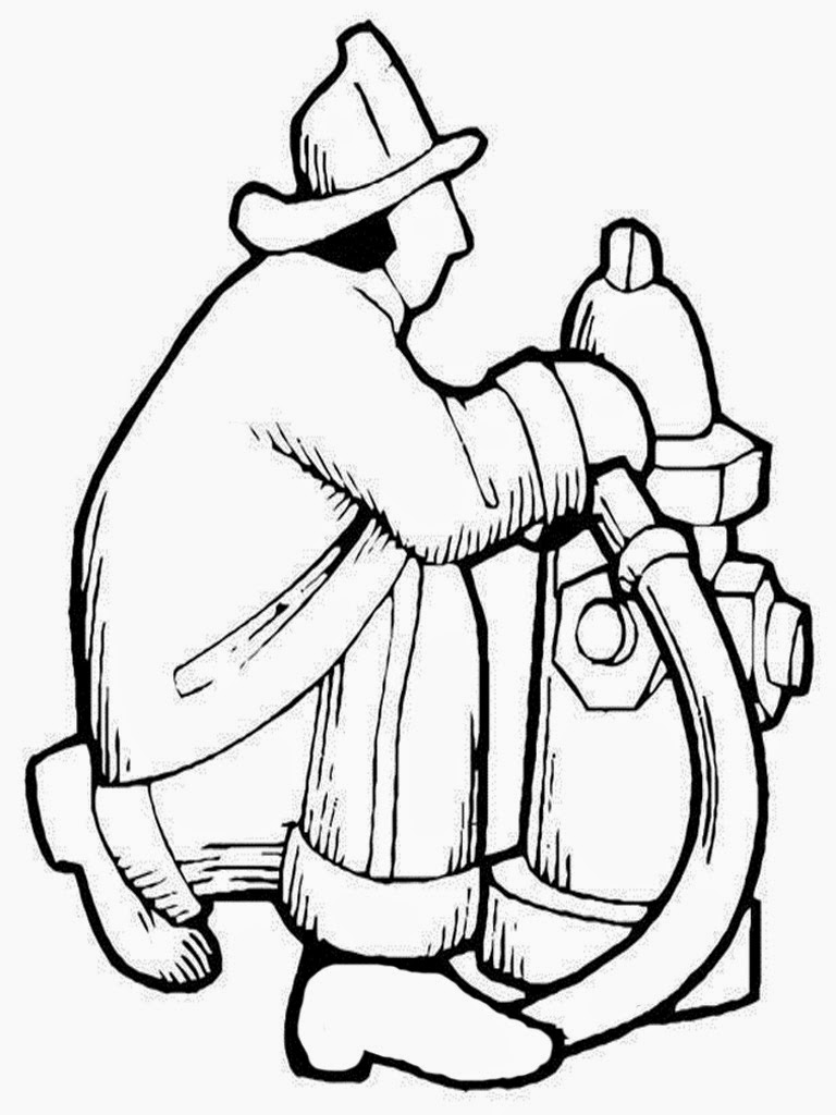 free printable coloring pages of firefighters
