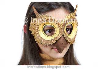 Owl mask made with paper quilling