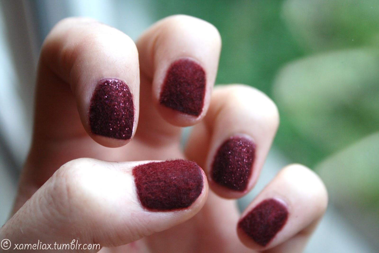 ♥. amelia paints nails .♥.: .Burgundy Velvet Manicure.