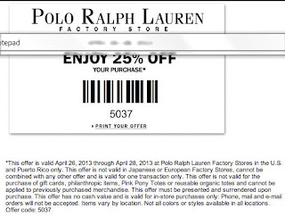 ralph lauren printable coupons november 2014. Black Bedroom Furniture Sets. Home Design Ideas