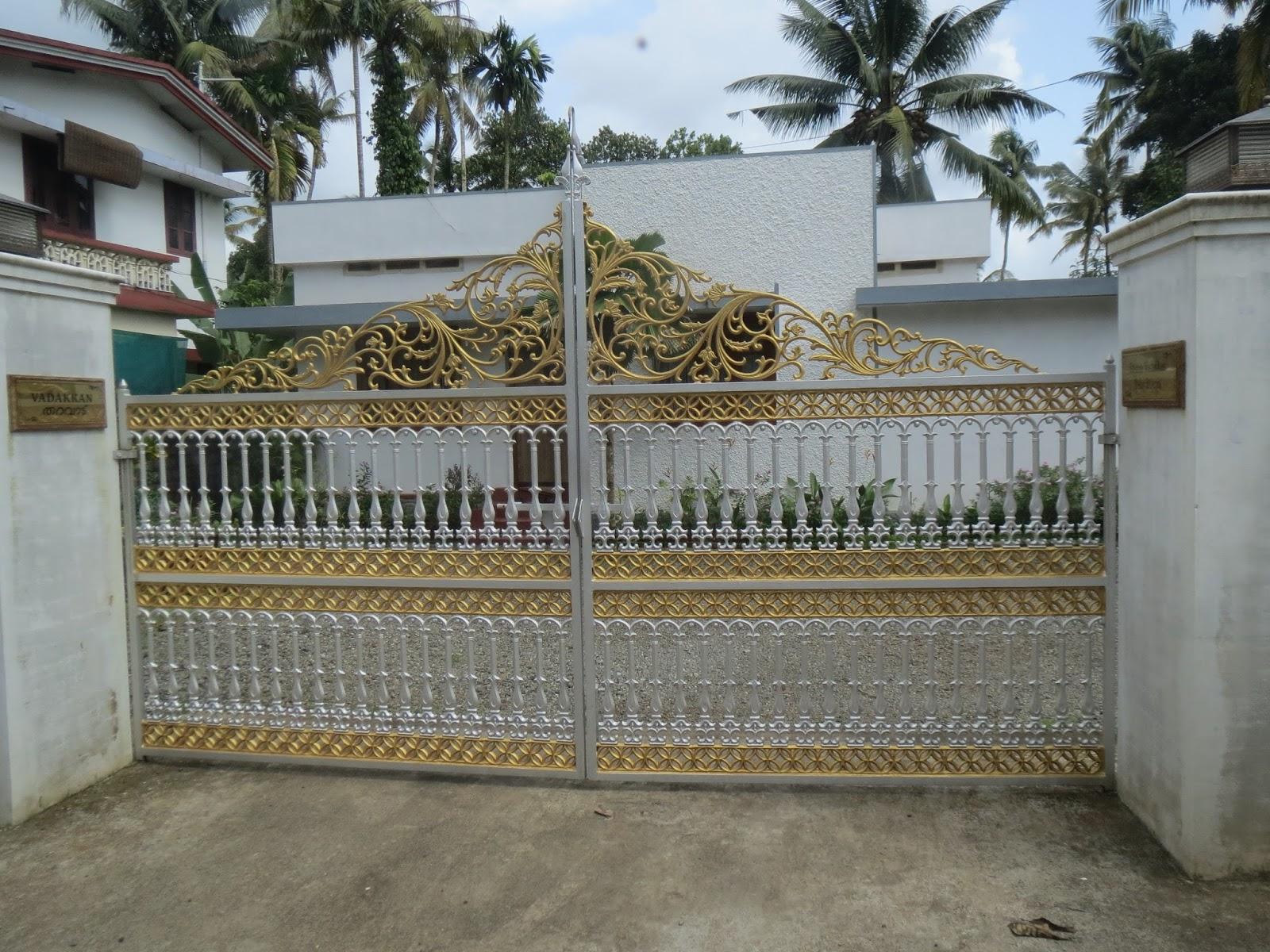 Kerala gate designs more kerala gate designs for Kerala home pillar designs
