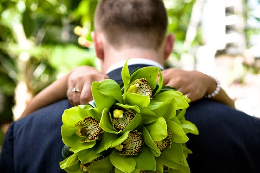 green wedding inspirationorchid wedding bouquets
