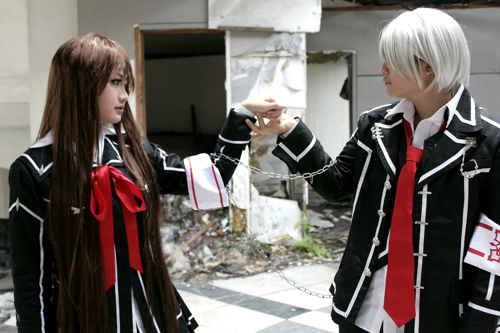 Vampire knight yuki cosplay costume