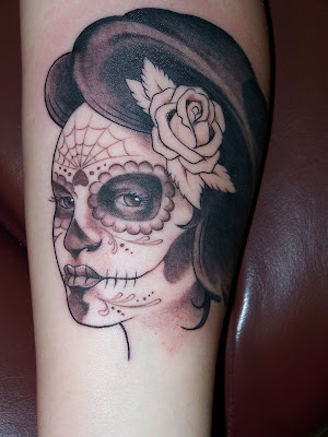 Sugar Skull Lady Tattoo