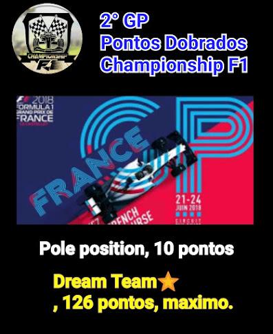 IMAGEM DA SEMANA - P FRANÇA, PONTUAÇÃO DOBRADA CHAMPIONSHIP F1 2018