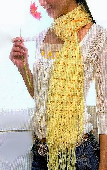 patron bufanda crochet