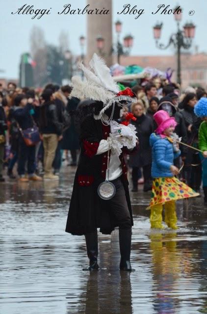 Carnevale con acqua alta