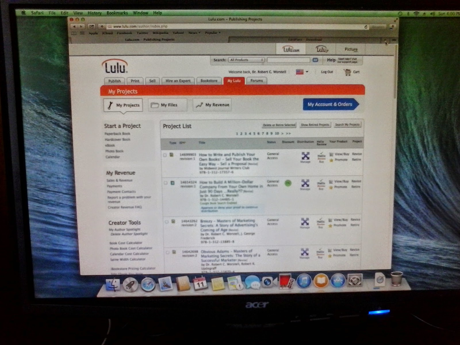 Lulu on a MAC, proving the world doesn't end when public domain isn't distributed anymore.