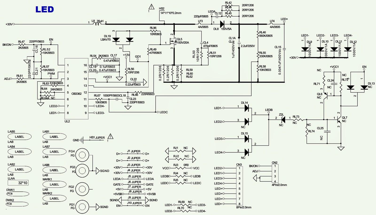 philco  philips  - ph32s86dg - power schematic