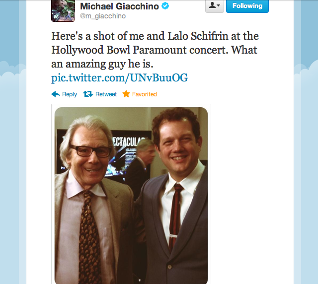 Lalo Schifrin and Michael Giacchino