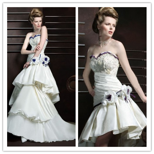 Whiteazalea 2 in1 wedding dresses 2 in 1 wedding dresses for Wedding dresses with color accents