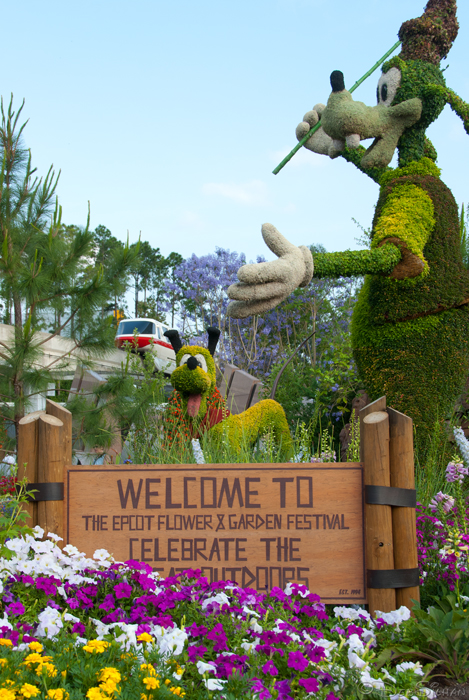 Epcot Flower and Garden Entrance Display ©Focused on the Magic.com