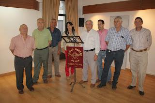Miembros de la junta directiva del casino Obrero de Béjar