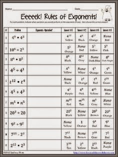 math worksheet : exponent worksheets puzzle teacher resources : Free Math Worksheets Exponents