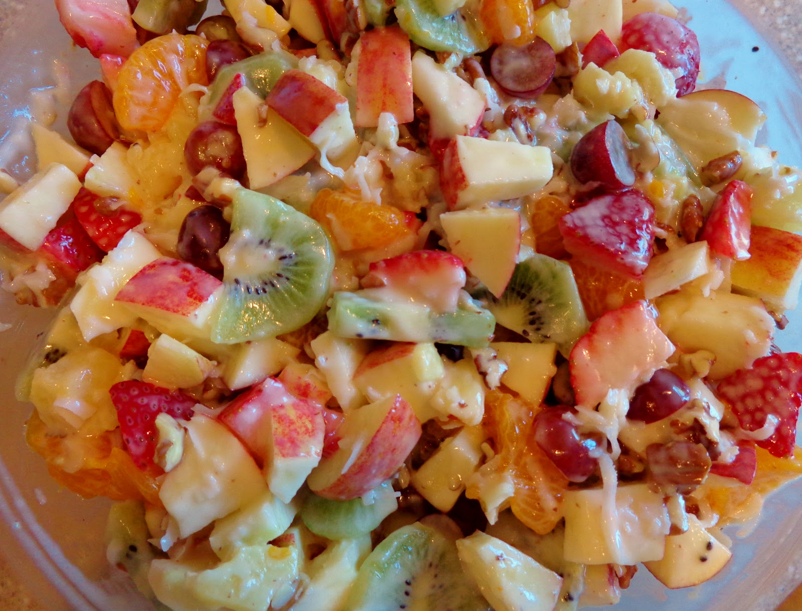 Eatin' Vegan in Smalltown, USA: Creamy Tropical Fruit Salad~pg. 86