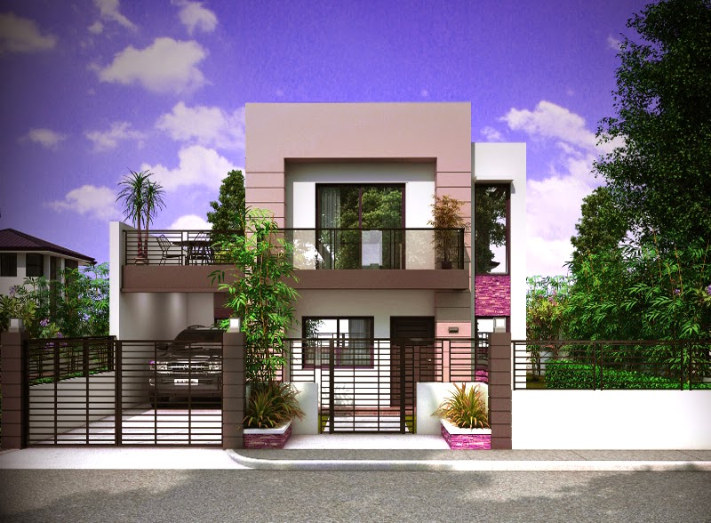 tampilan tampak depan rumah mewah minimalis 2 lantai