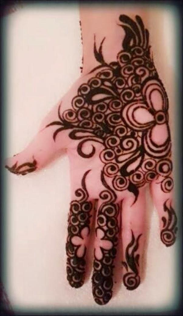 Henna Hand | Dark Brown Hairs