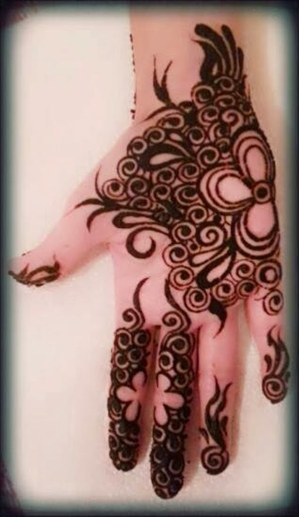 Mehndi Designs Easy For Girls : Beautiful but simple mehndi design for girls all