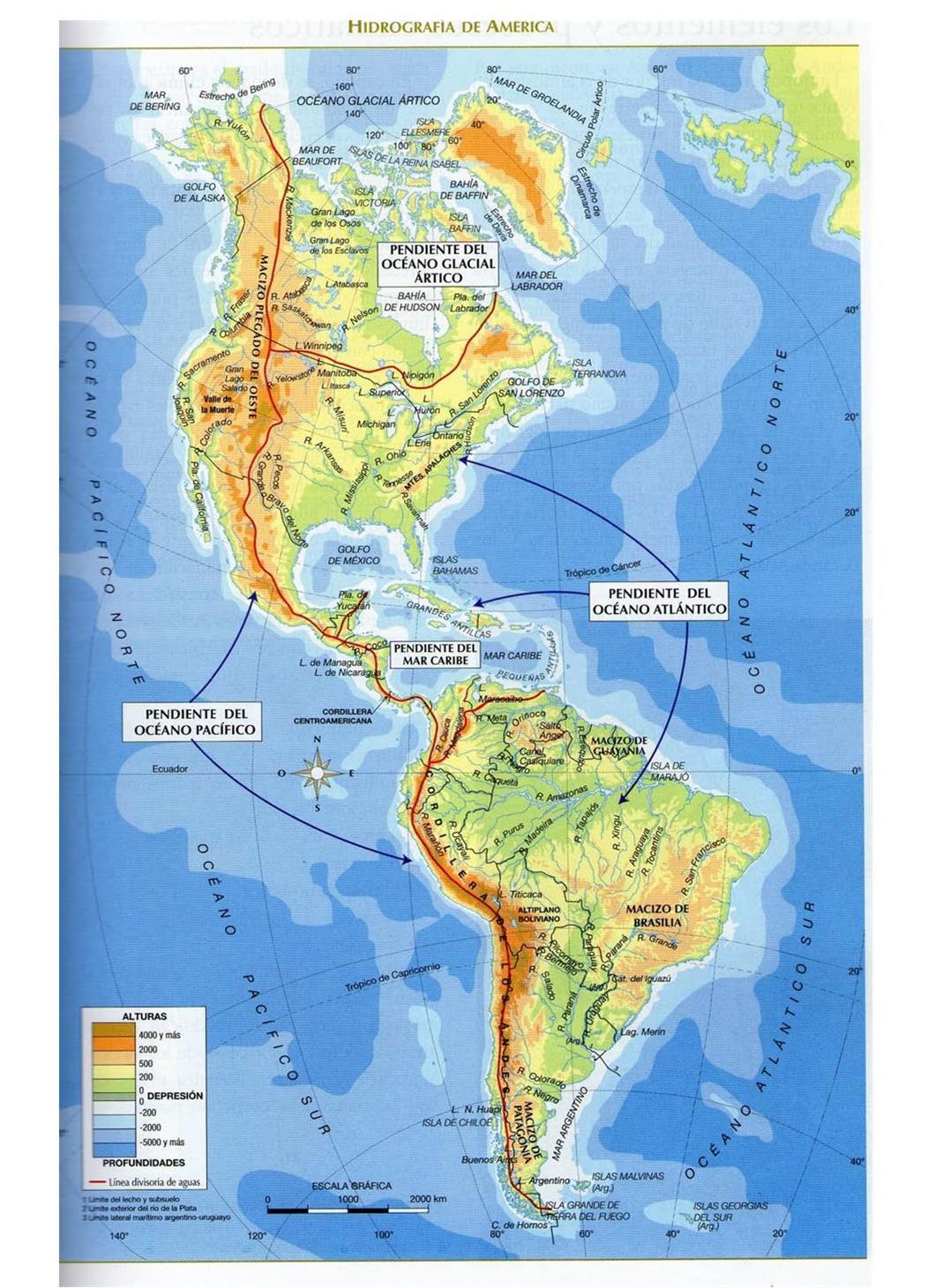 Mapa Rios De America