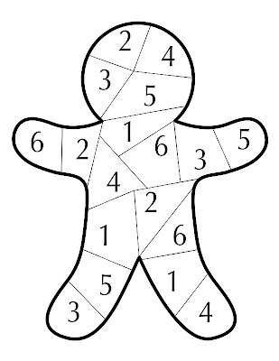 picture regarding Printable Dice Games referred to as Kinzies Kreations: Gingerbread Cube Activity