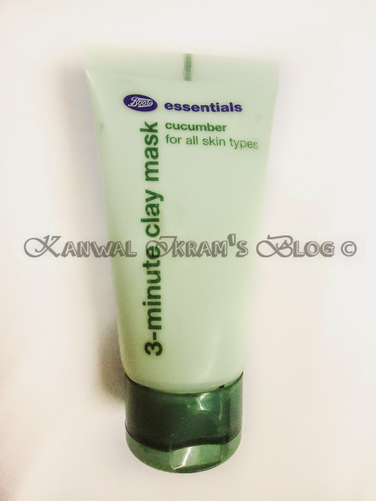 Boots Essentials Cucumber 3 minute Clay Mask-Review And Swatches