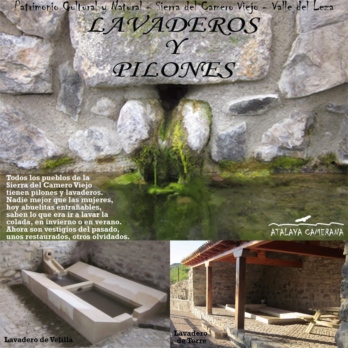 Sierra del Camero Viejo - Valle del Leza. Patrimonio Cultural y Natural. Lavaderos y Pilones.