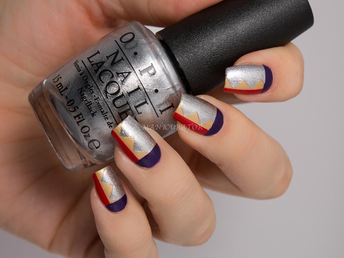 Manicurator Opi Gwen Stefani Holiday 2014 Wonder Woman Nail Art