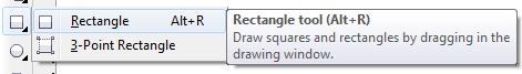 Mengenal bagian CorelDRAW - Retangle Tool