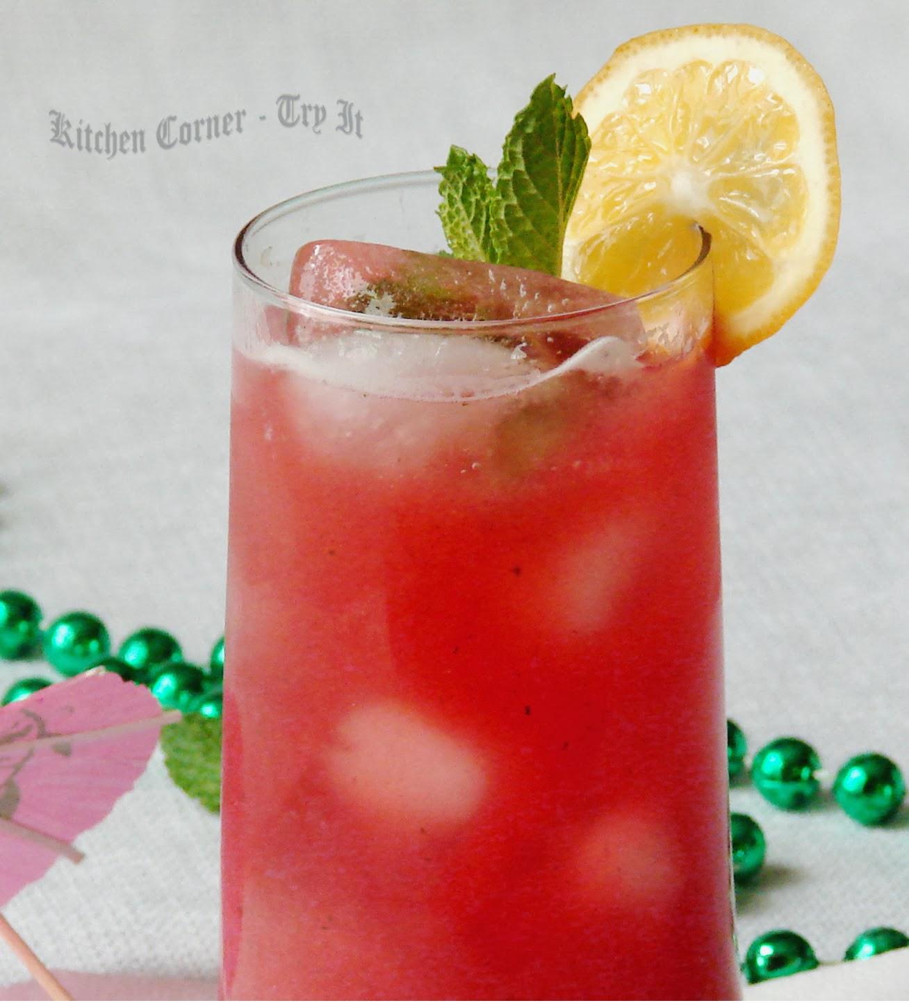 Kitchen Corner-Try It: Raspberry Mint Agua Fresca