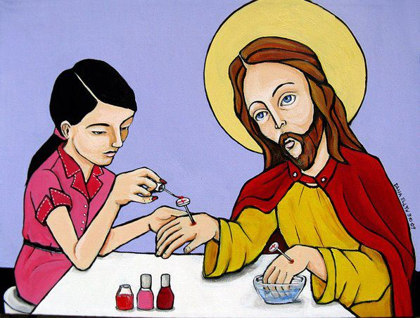 Dana Ellyn, Jesus gets his nails done at the mall