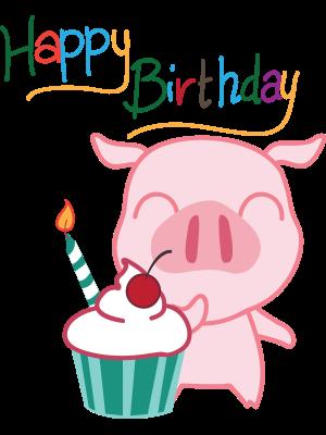 hình ảnh chúc mừng sinh nhật dễ thương con heo