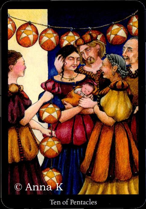Anna K Tarot - Ten of Pentacles