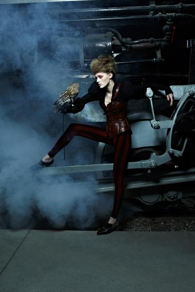 ANTM steampunk fashion steampunk clothing train owl