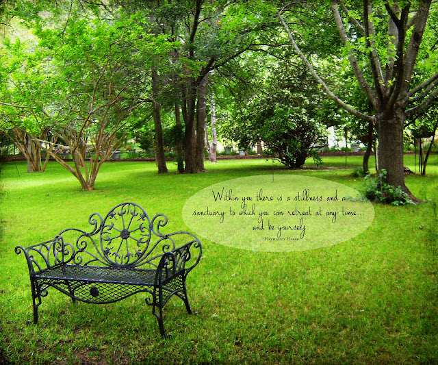 Quotes About Our Backyard :  in our yard that looks like this; I love the bench, I want the bench