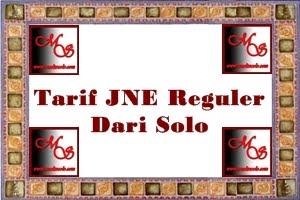 Tarif JNE Reguler Dari Solo