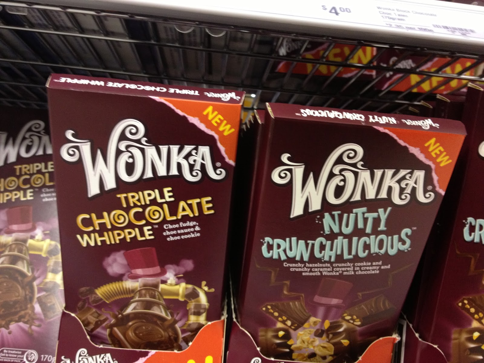 Lolly Addict - Australian Confectionery Reviews: Gossip: Wonka Bars