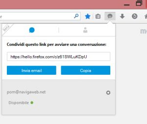 chiamata video firefox