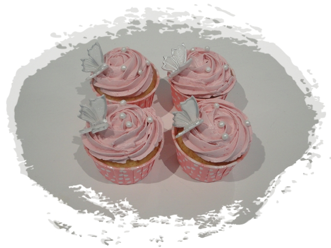rosa cupcakes recept