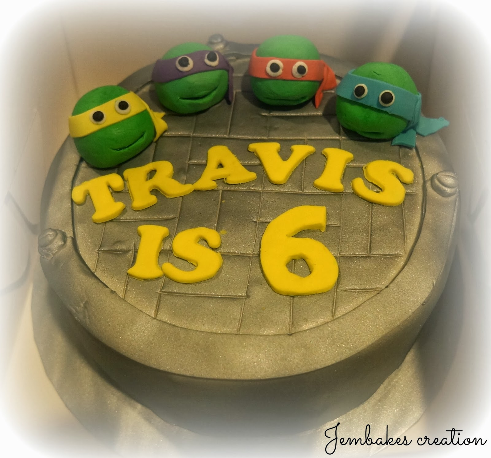 Jembakes Ninja turtle cake Lightning Mcqueen cake and