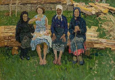 GALERÍA TETRYAKOV DE MOSCÚ. Cuatro mujeres (Hermanos Tkachev, 1960)