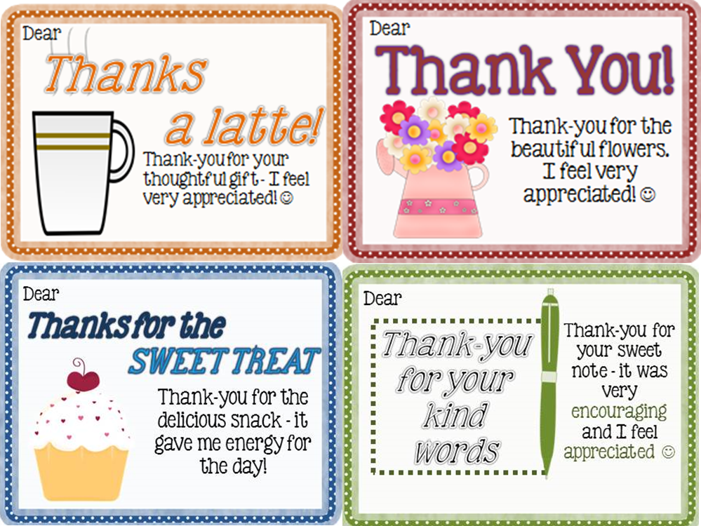 Thank-You Notes From Teachers to Students {FREEBIE} - ~Joy ...